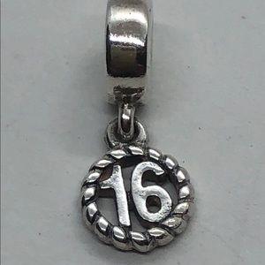 Authentic Pandora Retired Sweet 16 Charm